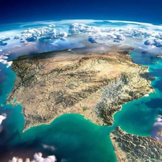 Península Ibérica desde el espacio.