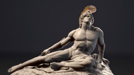escultura aquiles