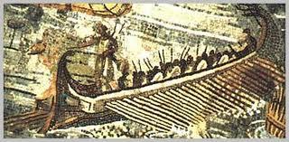 Resultado de imagen de mosaico en tunez con una trirreme romana