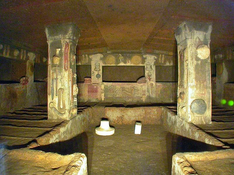 Resultado de imagen de la necropolis de cerveteri