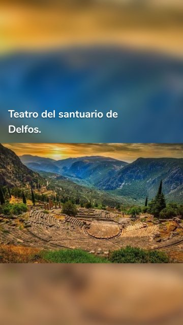 Teatro del santuario de Delfos.